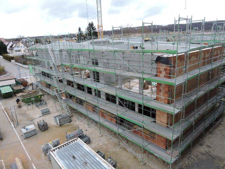 Grossansicht in neuem Fenster: Schulhausneubau - März 2020 - 2